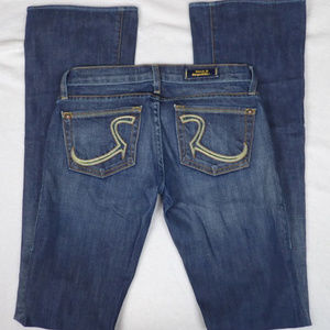 Rock and Republic lowrise flared Jeans, Size 24